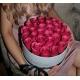MEDIUM WHITE BOX - HOT PINK ROSES