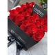 Square black box with red roses