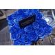 SQUARE BLACK BOX - BLUE ROSES