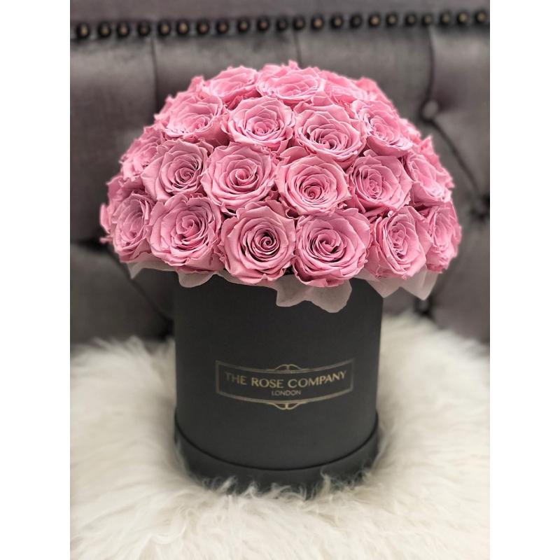 Small Box pink roses
