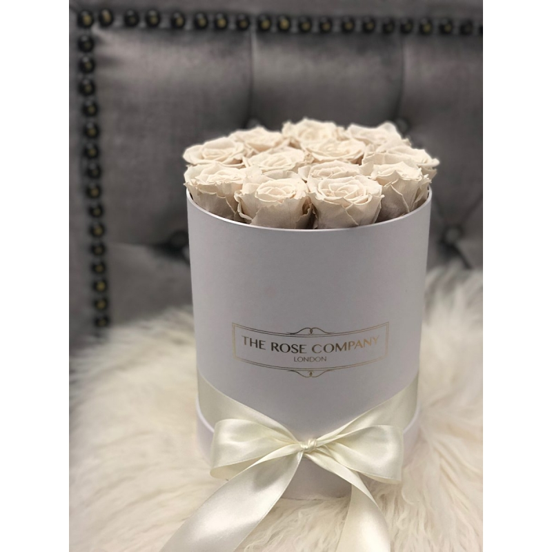 IVORY ETERNITY ROSES - white box