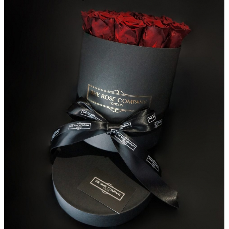 RED ETERNITY ROSES - black box