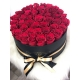 Big white box with red grand prix roses