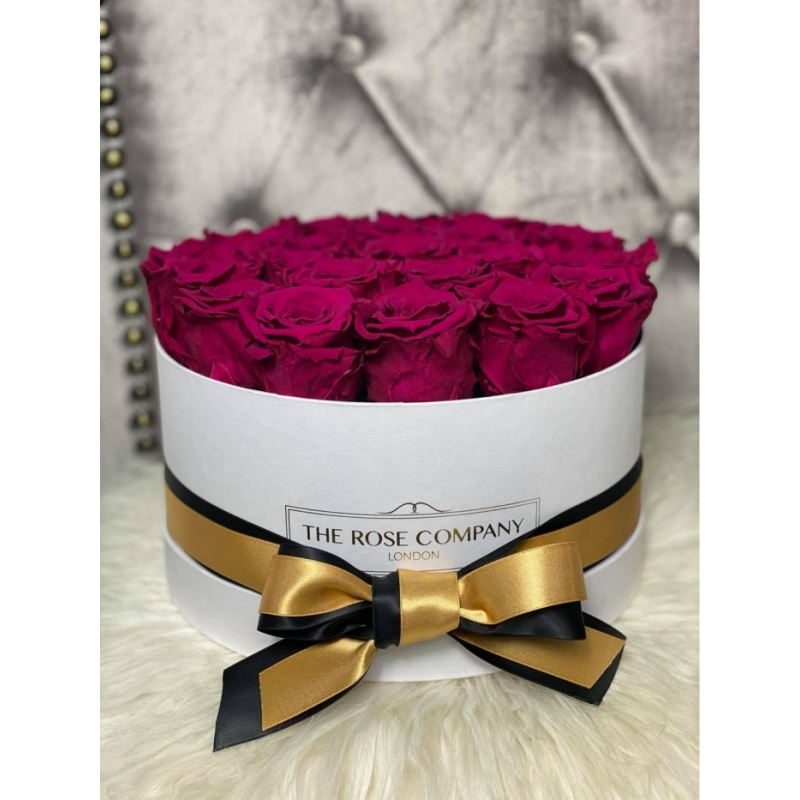 DARK CHERRY INFINITY ROSE - medium box